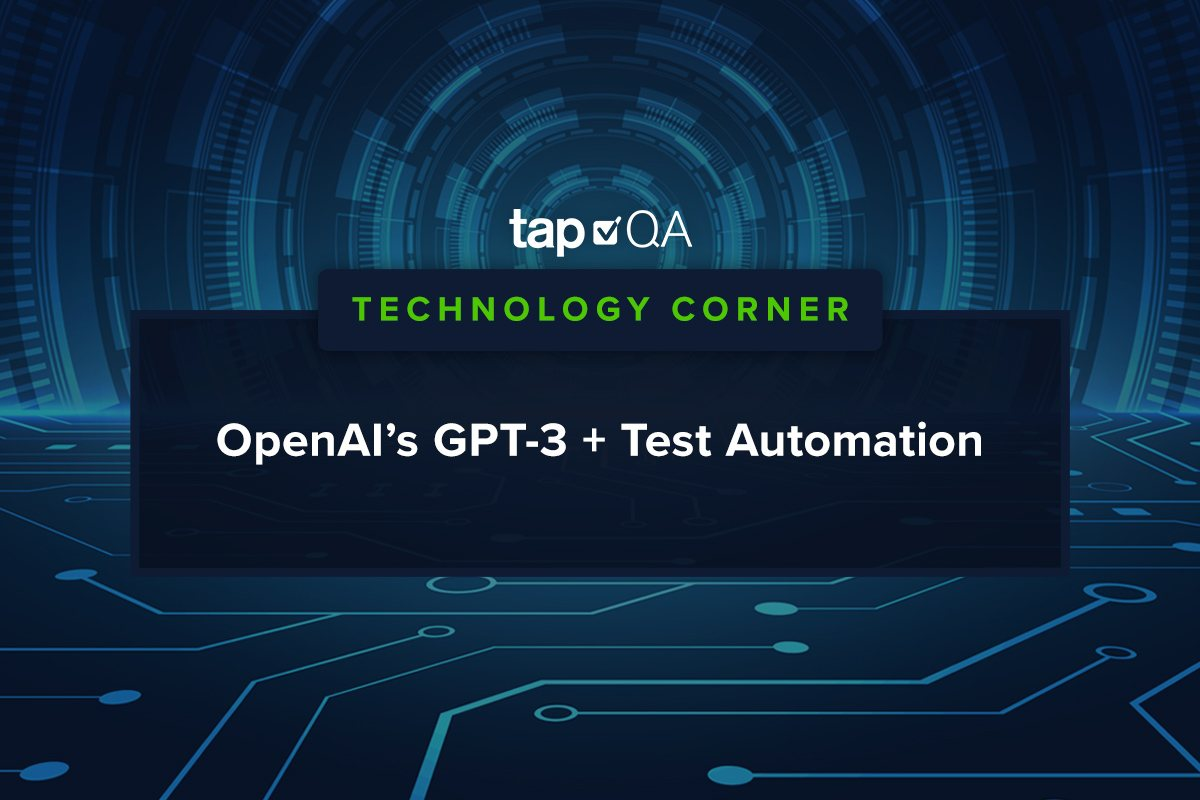 OpenAI GPT-3 Test Automation