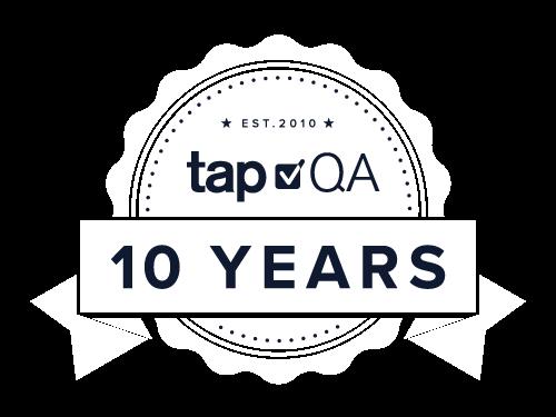 tapQA 10 Year Anniversary
